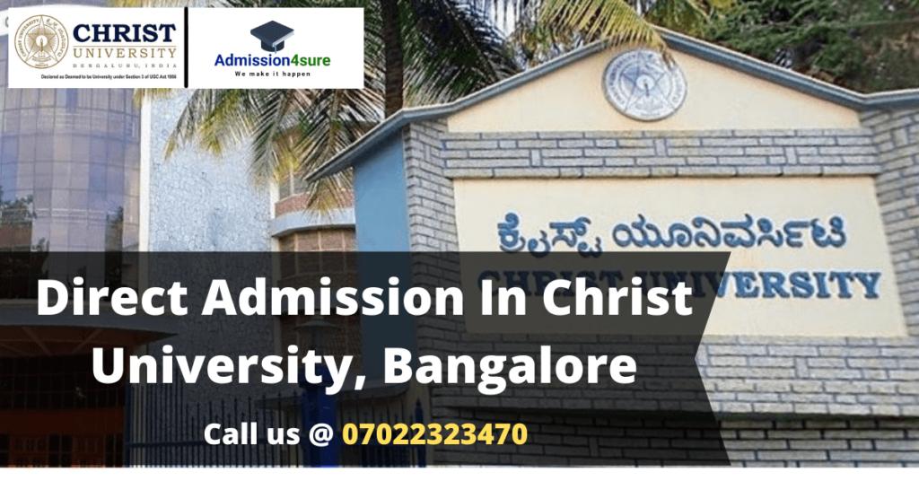 Direct Admission at Christ University